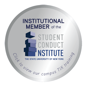Student Conduct Institute Badge - Click to view our campus Title IX training